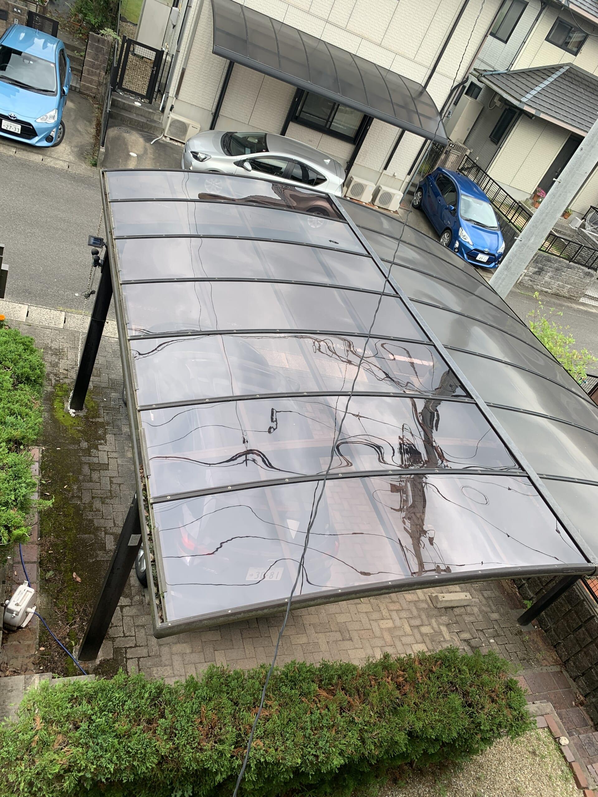 カーポート屋根張替工事