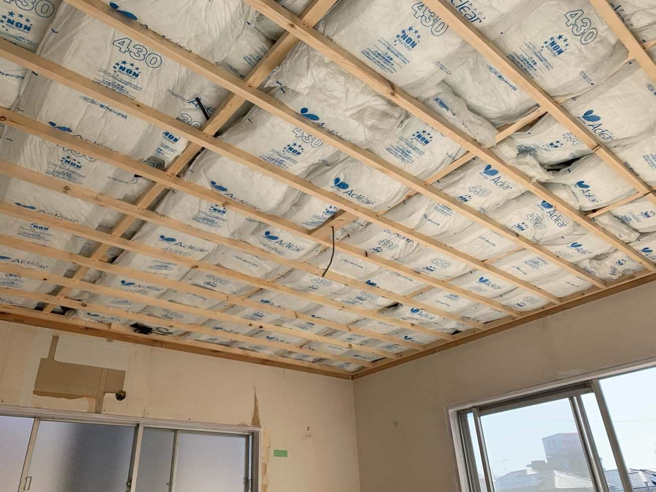 和室改装工事(天井)